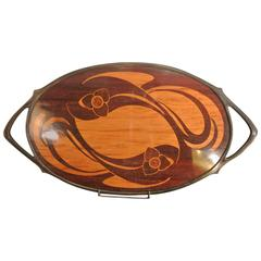 Beautiful Tray by Maurice Dufrène for 'La Maison Moderne' in Marquetry Wood