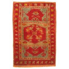 Bright Antique Turkish Sivas Yastik Rug