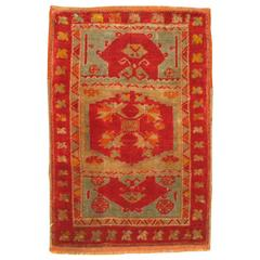 Antique Turkish Sivas Yastik Rug