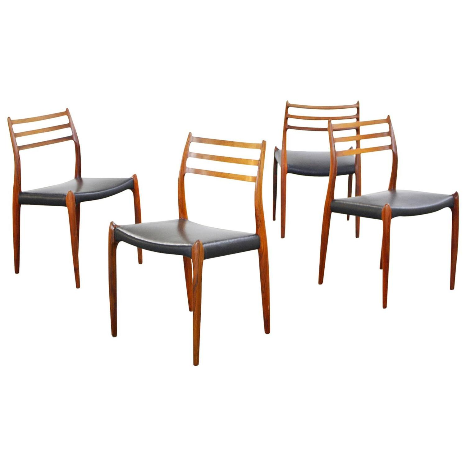 Danish Modern Rosewood Dining Chairs By Niels O Moller No 78 1960s At 1stdibs