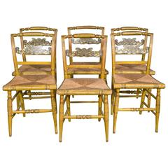 Set of Six Fancy Chairs