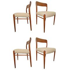 Set of Four Niels O. Møller Dining Chairs