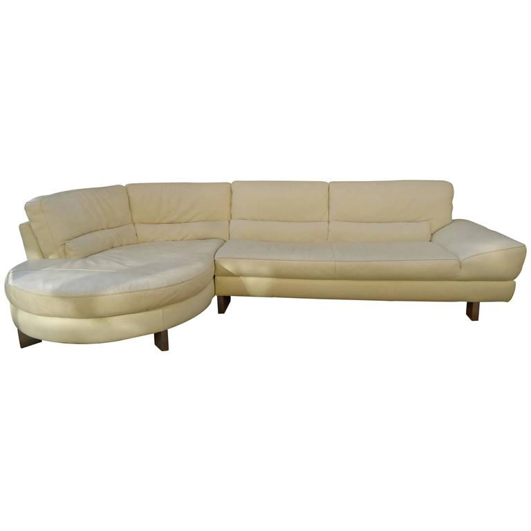 Natuzzi Leather Sofa By Italsofa For