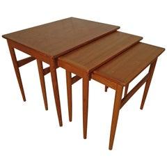 Midcentury Set of Teak Nesting Tables