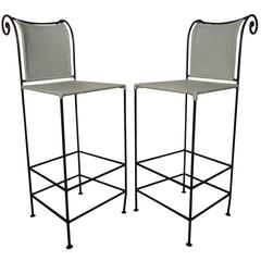 Pair of Sculpted Shaver Howard Midcentury Stools
