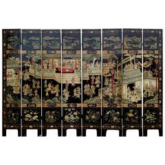 19th Century Chinese Coromandel Lacquer Screen