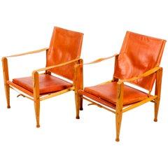 Pair of Kaare Klint Safari Chairs