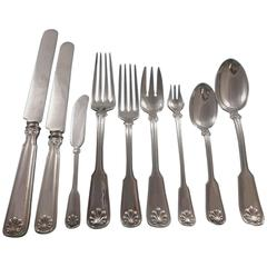 Shell & Thread by Tiffany & Co. Sterling Silver Flatware Set 12 Service 120 Pcs