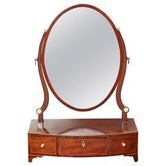 Early 19th Century English Regency, Mahogany Dressing Table Mirror