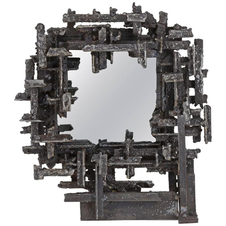 Vanity Mirror with Stand by James Anthony Bearden For Sale