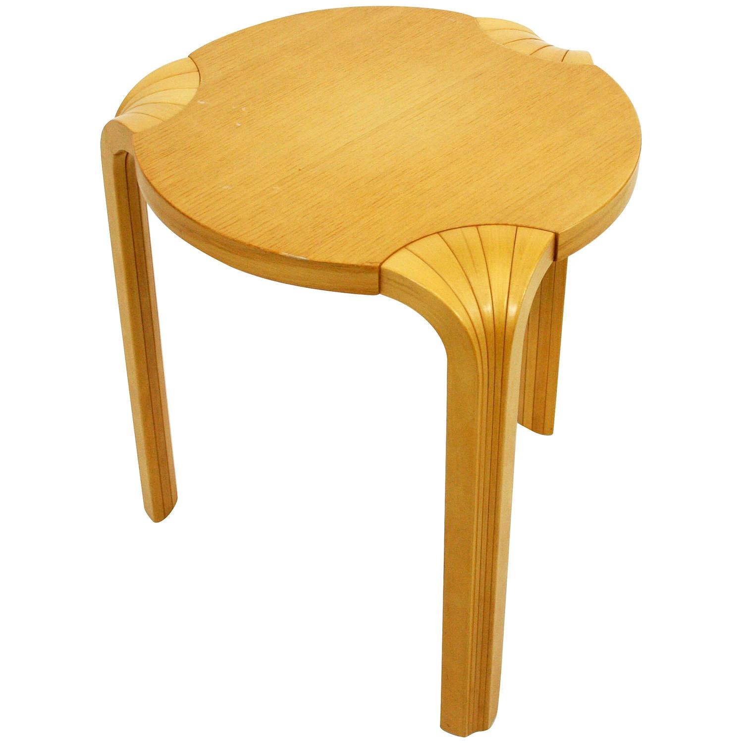Alvar Aalto X600 Fan Leg Stool For Artek Through Icf At