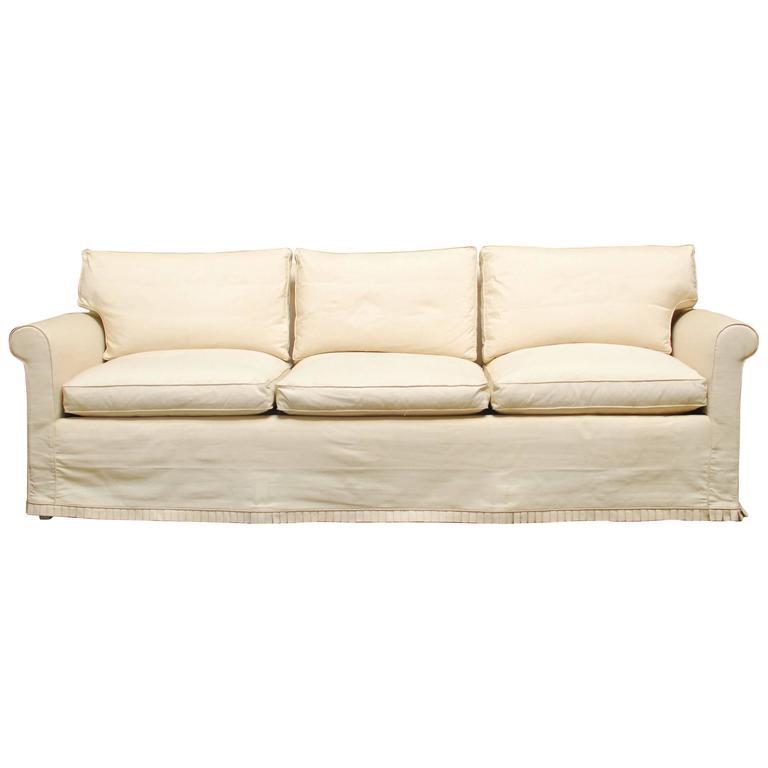 Modern Slipcover Sofa at 1stdibs