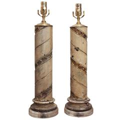 18th Century Italian Column Lamps