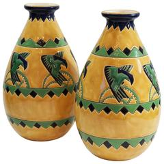 "Rare ""Pair"" of Charles Catteau Vases"