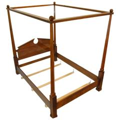 Federal Style Henredon Cherry Queen-Size Canopy Bed Frame