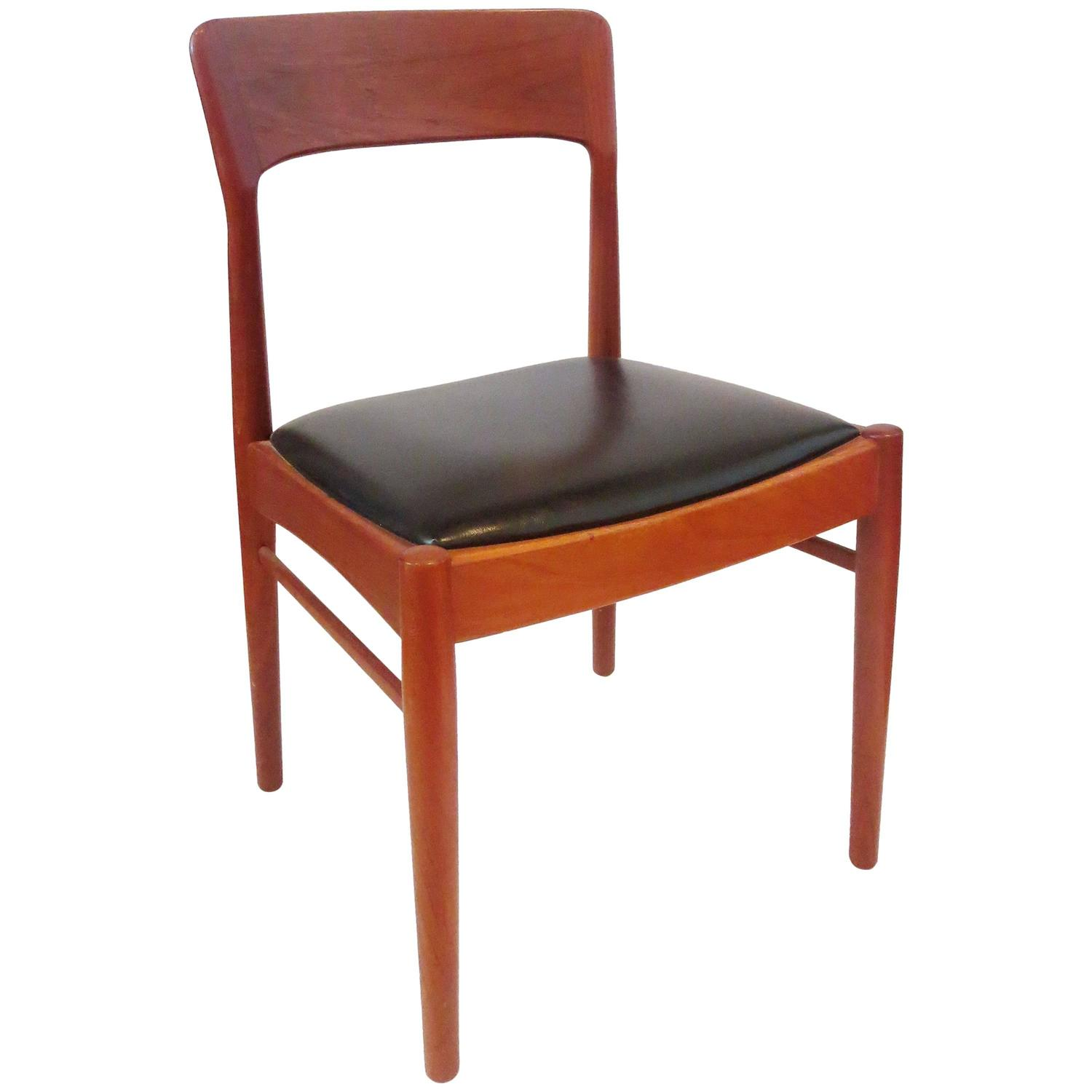 1950s danish modern teak side chair at 1stdibs