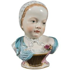 Meissen Porcelain Portrait Bust of a Bourbon Child