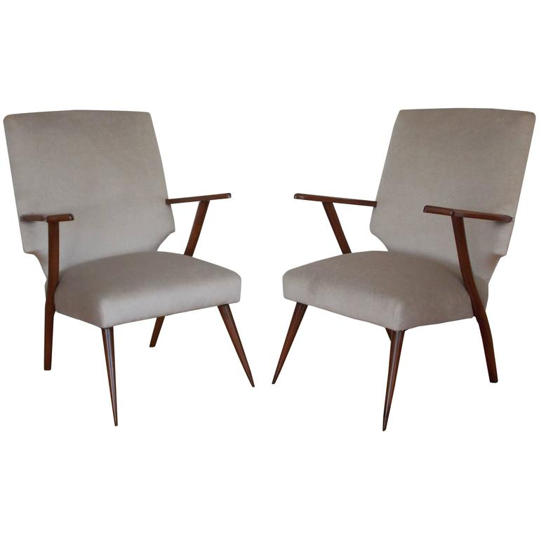 Pair of Midcentury Occasional Chairs, Italy