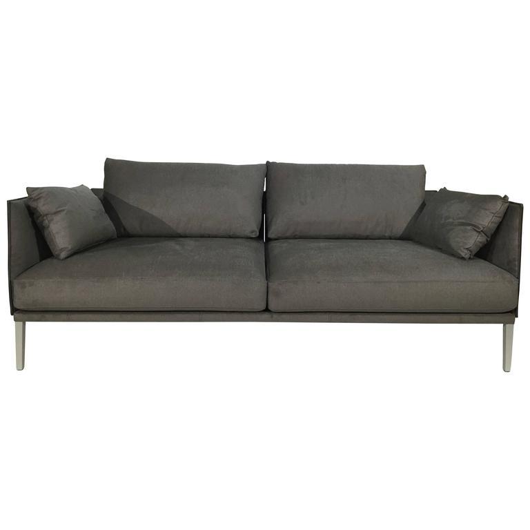 De Sede DS-333/123 Sofa in Fabric/Saddle Leather Artisano Cigarro Combo