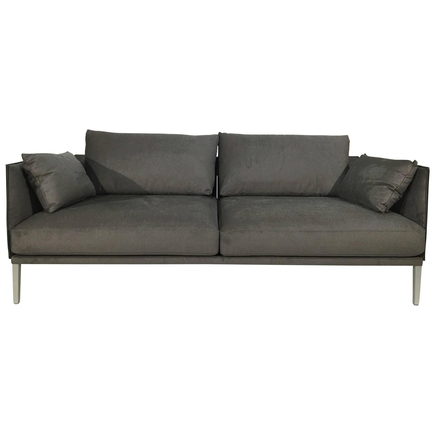 De Sede Ds 333 123 Sofa In Fabric Saddle Leather Artisano Cigarro Combo For Sale At 1stdibs