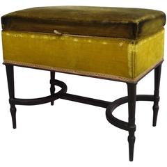 French Mid-Century Modern Neoclassical Louis XVI Piano Bench