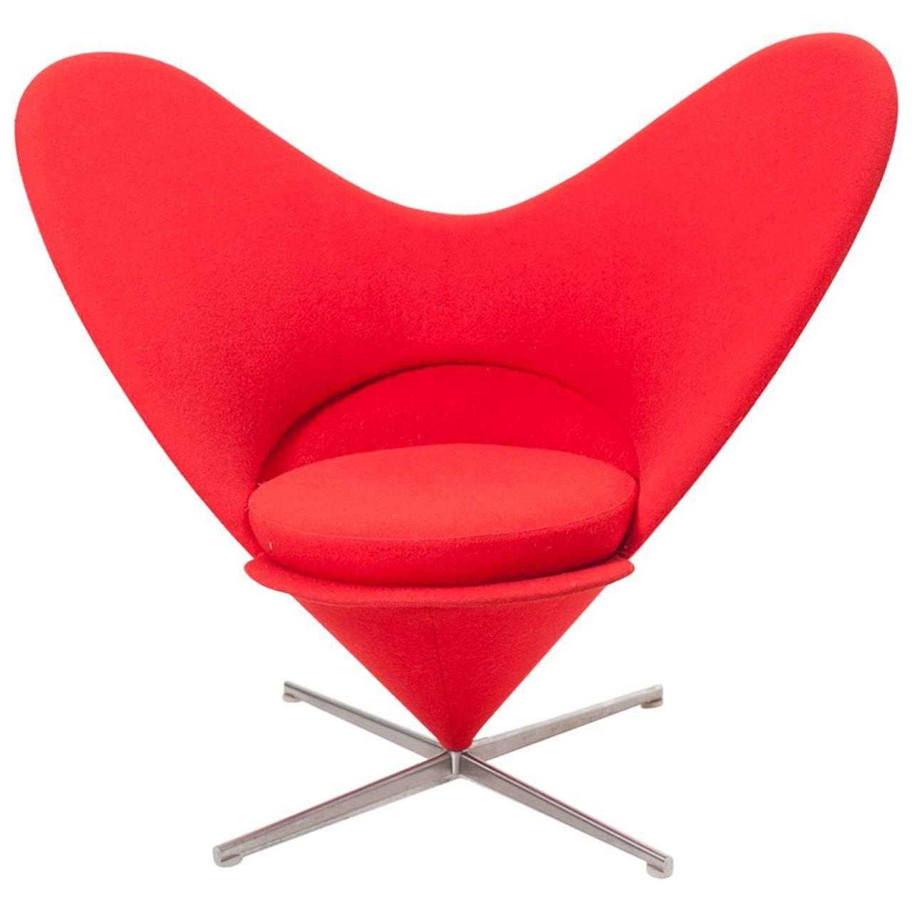 Armchair Heart Cone By Verner Panton For Vitra At 1stdibs