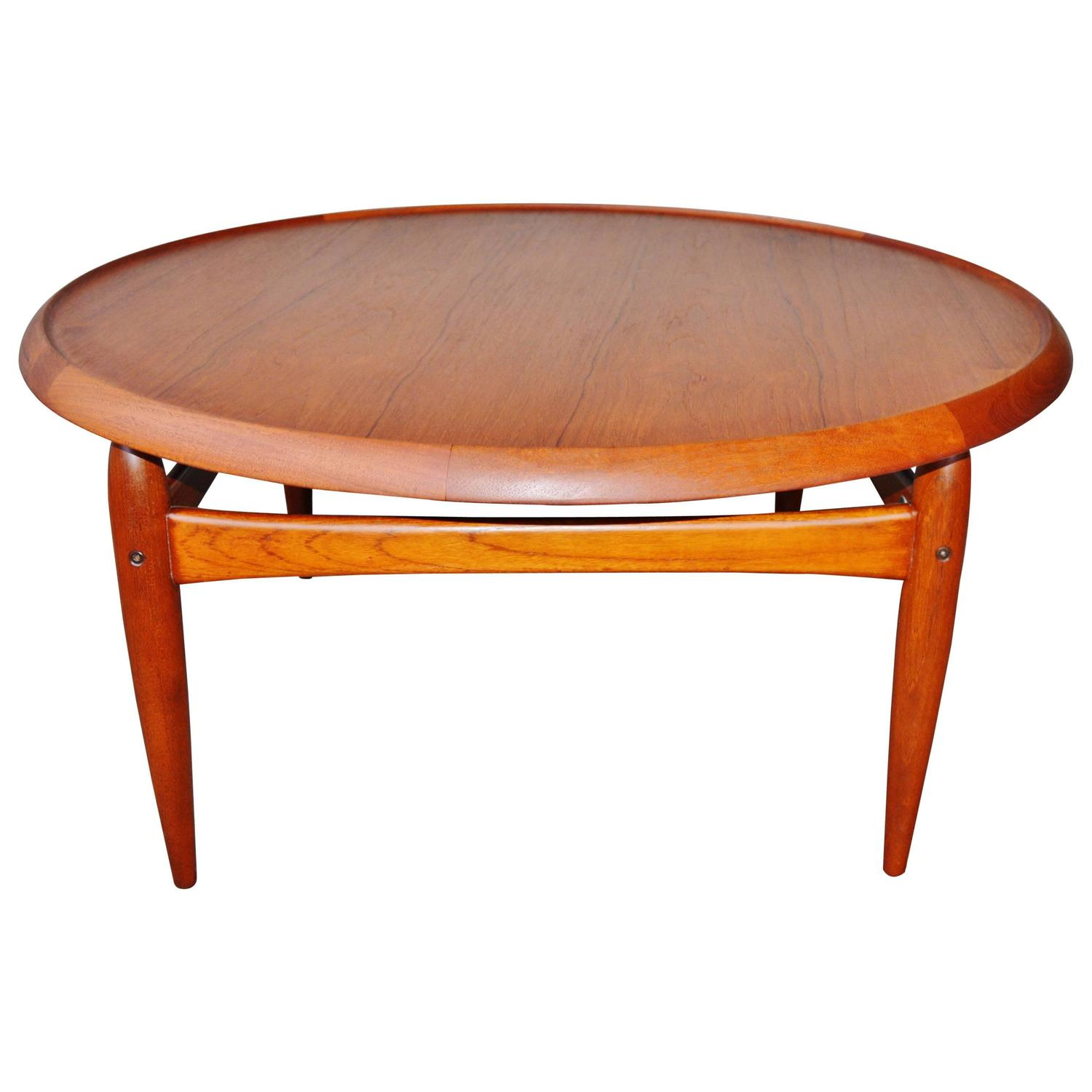Teak Sculptural Flip Top Coffee Table By Ingvard Jensen At 1stdibs