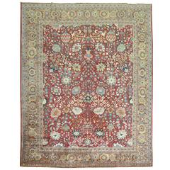 Antique Persian Tabriz Decorative Carpet