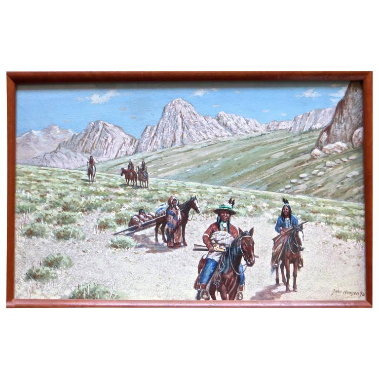 "John Hauser ""Mountain Desert Trail"" Dated 1896 1"