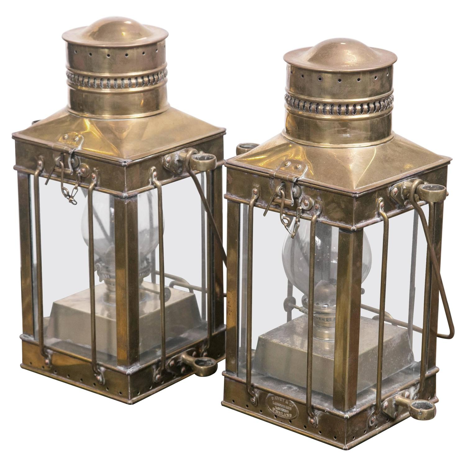 1880 Solid Br Ship Lanterns By Davey