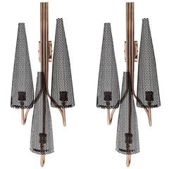 Pair of 1950s Sconces Attributed to Jacques Biny