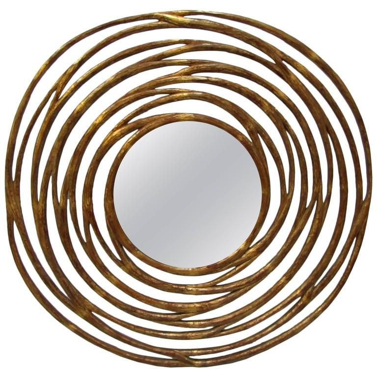 Large tourbillon contemporary mirror for sale at 1stdibs for Large contemporary mirrors
