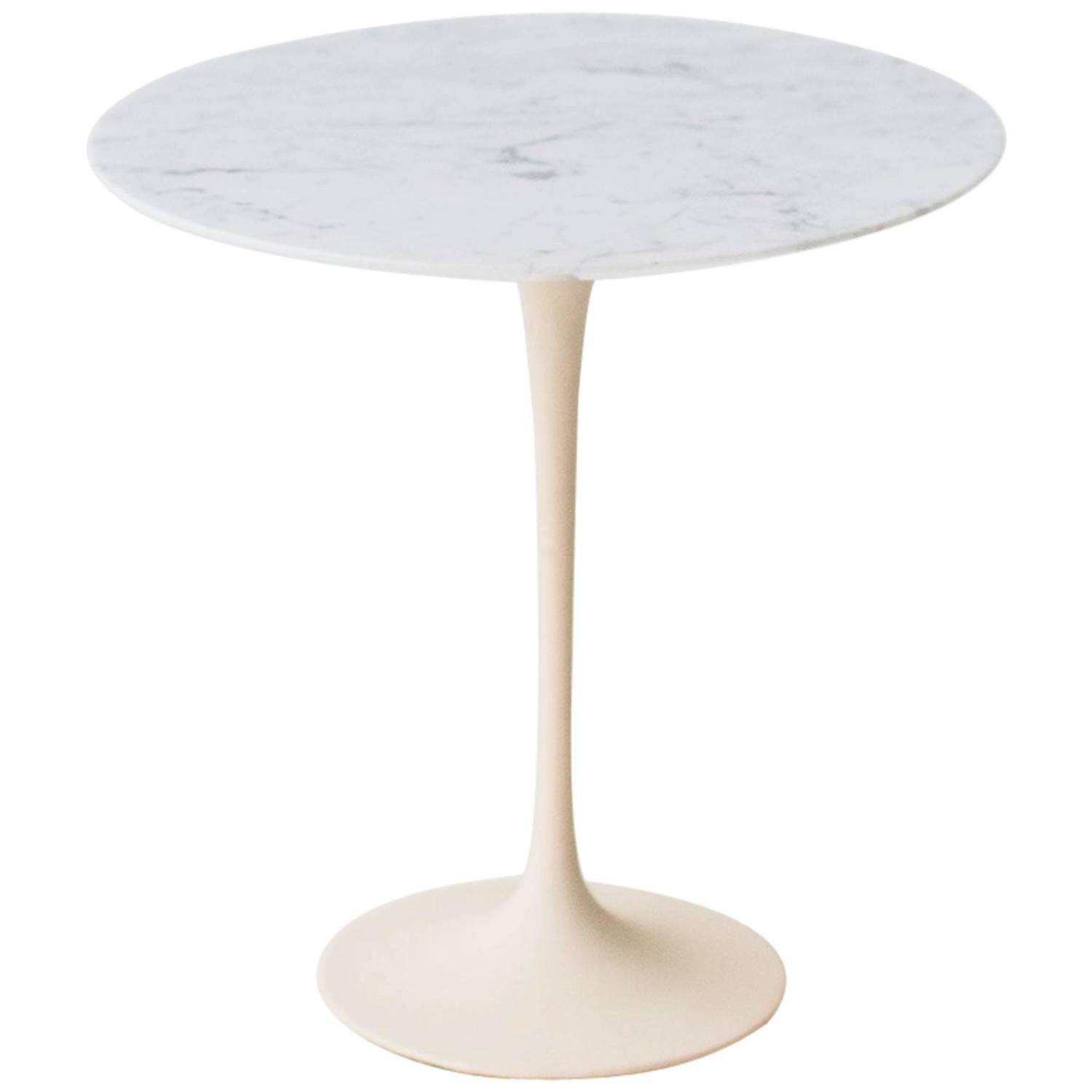 Eero Saarinen Marble Side Table for Knoll at 1stdibs