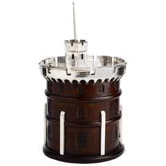 Novelty Ice Bucket in the Form of a Tower, English circa 1920