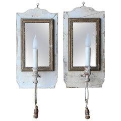 Italian Antique Mirrored Sconces