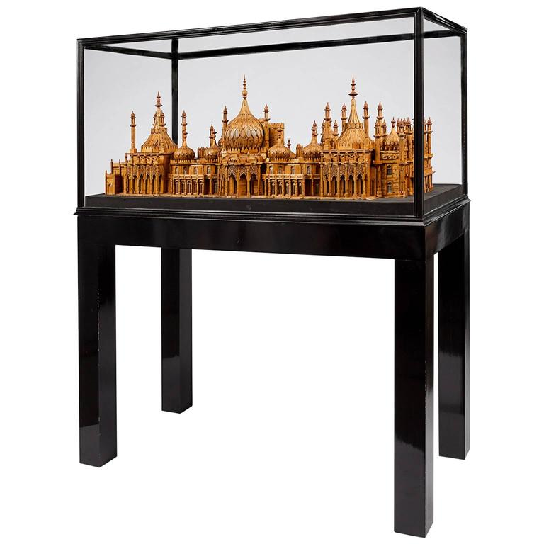 Royal Brighton Pavilion Matchstick Architectural Model by Bernard Martell For Sale