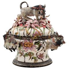 Warthog Tureen Centerpiece by Ardmore Ceramics from South Africa