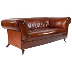 Leather Upholstered Chesterfield Mid-20th Century