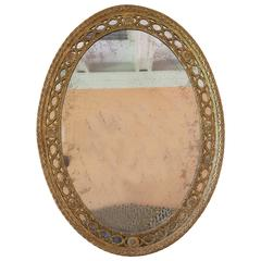 Neoclassical Oval Giltwood Mirror