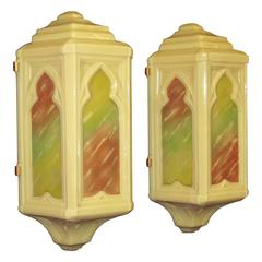 1920s Moorish Cathedral Wall Sconces
