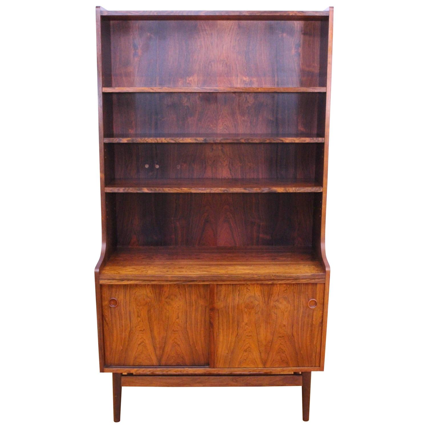 Danish, Mid-Century Modern Rosewood Bookcase or Bornholmer Unit at ...