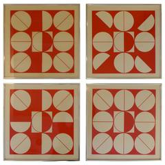 Set of Four Serigraphs by Milan Dobes