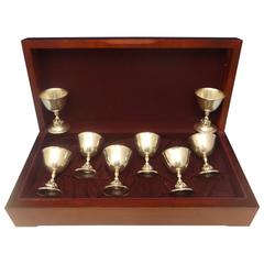 La Paglia International Sterling Silver Sherbet Cups Set of 8 in Box, Hollowware