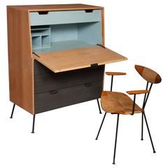 Raymond Loewy Droptop Desk or Cabinet, 1950s