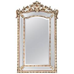 19th Century Louis XIV Style Parclose Mirror with Beveled Glass