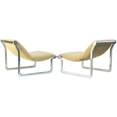 Polished Aluminum Lounge Chairs by Hannah Morrison for Knoll International
