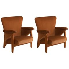 Pair of French Oak Chairs