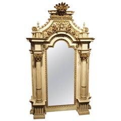 Stunning 18th Century French Louis XVI Period Altar Frame Mirror