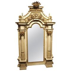 Stunning 18th Century French Louis XVI Period Altar Frame Mirror