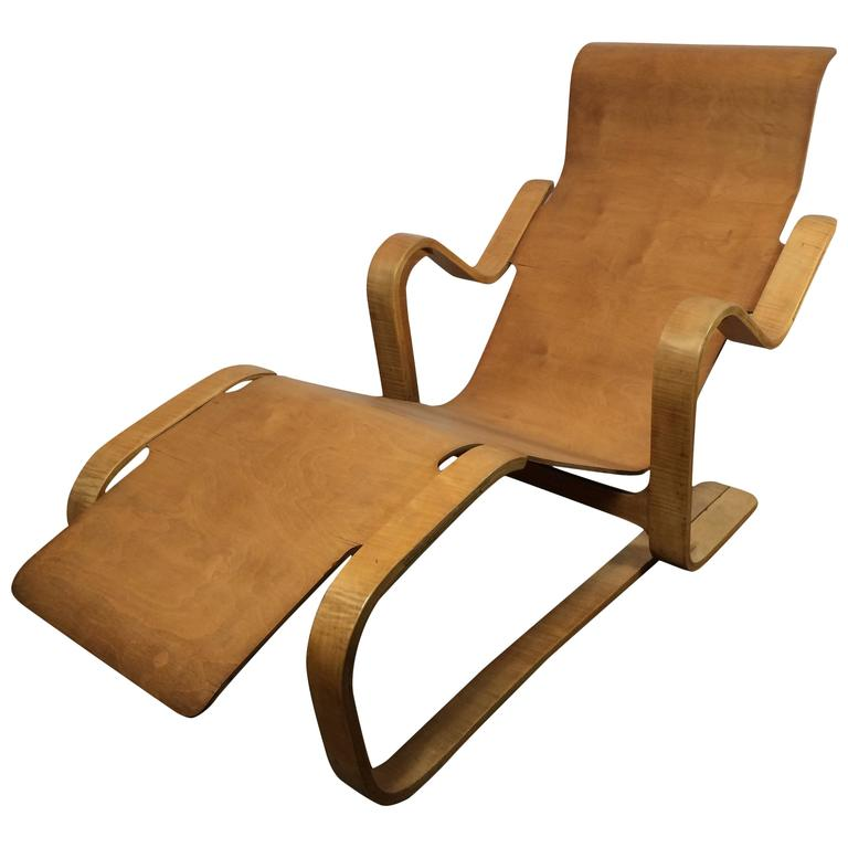 marcel breuer long chair 1935 1936 at 1stdibs. Black Bedroom Furniture Sets. Home Design Ideas